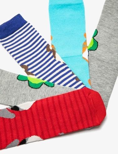 Koton Kids 5'li Erkek Çocuk Çorap Mavi
